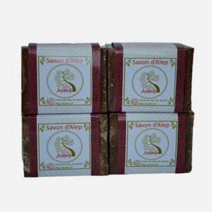 Lot de 4 savons d'Alep 40 % huile de baies de laurier